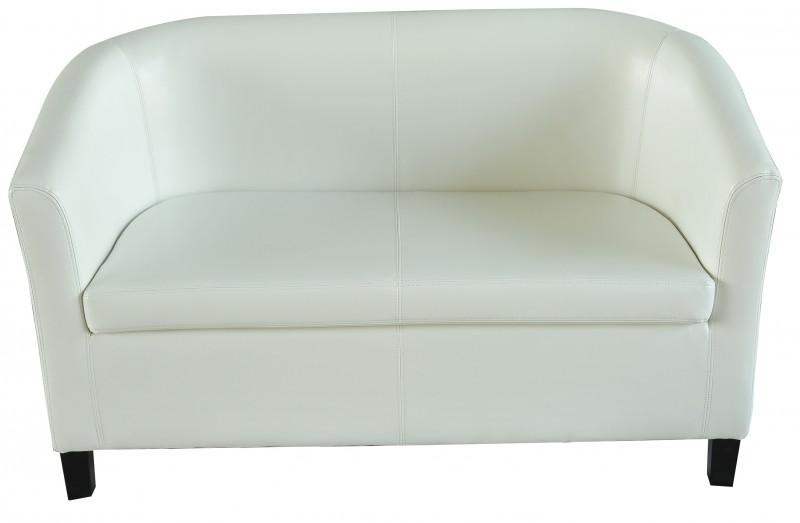 sofa aus kunstleder weiss online shop gonser. Black Bedroom Furniture Sets. Home Design Ideas