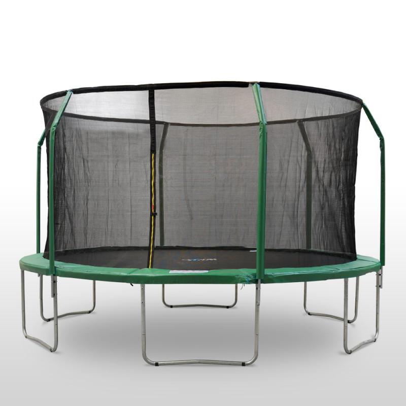 trampolin 4 3 m inkl sicherheitsnetz. Black Bedroom Furniture Sets. Home Design Ideas