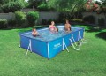 Familien Swimming Pool Set mit Stahlrahmen 400 x 211 x 81cm