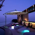Parasol suspendu LED 300cm anthracite