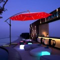 Parasol suspendu LED 350cm rouge