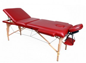 Table de massage 3 zones rouge