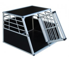 Alu Hundetransportbox Doppelbox