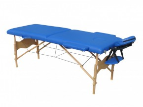 Table de massage 2 zones bleue