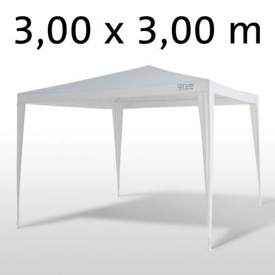gartenpavillon partyzelt 3 x3 x 2 6 m m weiss. Black Bedroom Furniture Sets. Home Design Ideas