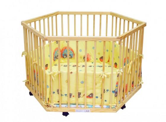 Parc enfant avec tapis jaune magasin en ligne gonser - Parc en bois hexagonal ...