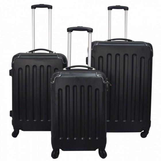 set valise de voyage noir magasin en ligne gonser. Black Bedroom Furniture Sets. Home Design Ideas