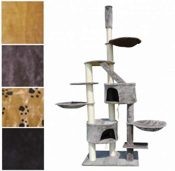 arbre chat hauteur de plafond 230 265 cm gris. Black Bedroom Furniture Sets. Home Design Ideas
