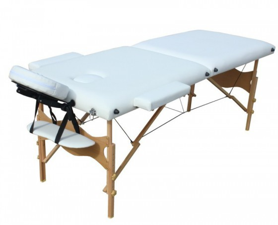 Table de massage 2 zones blanc