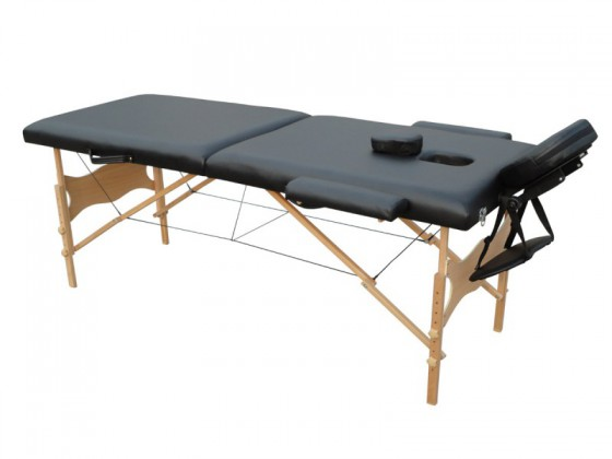 Table de massage 2 zones noir