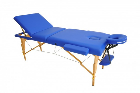 Table de massage 3 zones bleu