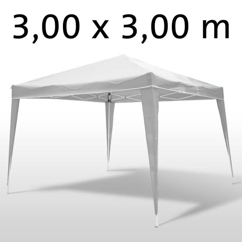 gartenpavillon partyzelt 3 x 3 x 2 6 m weiss. Black Bedroom Furniture Sets. Home Design Ideas