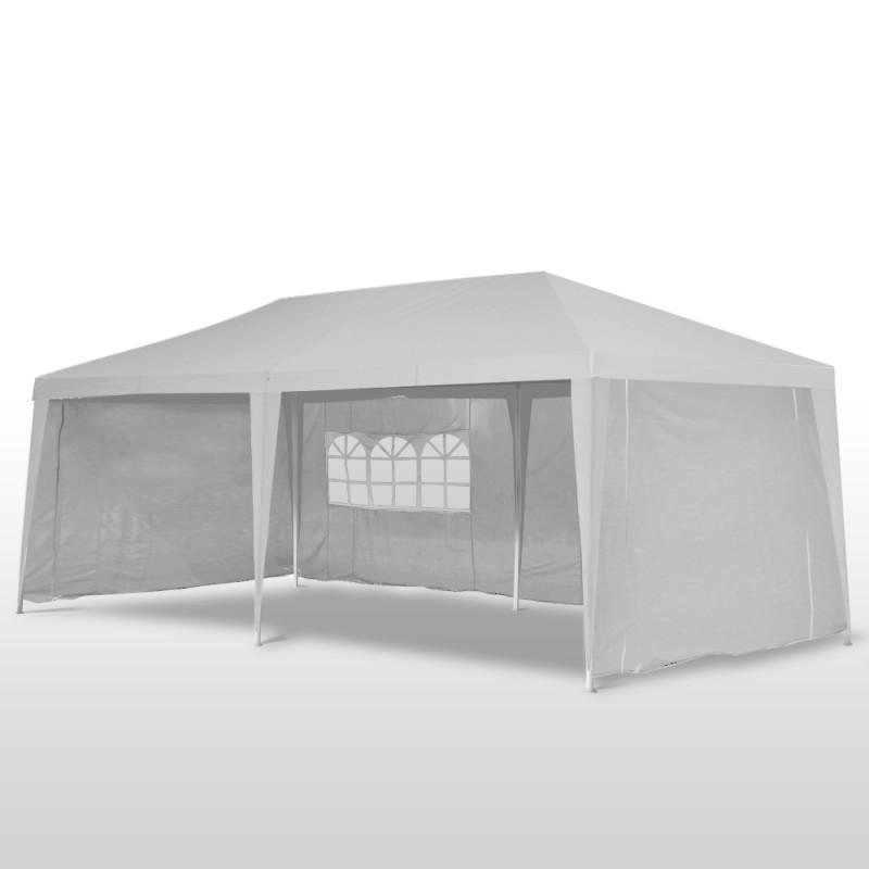 pavillon de jardin 3x6m blanc magasin en ligne gonser. Black Bedroom Furniture Sets. Home Design Ideas
