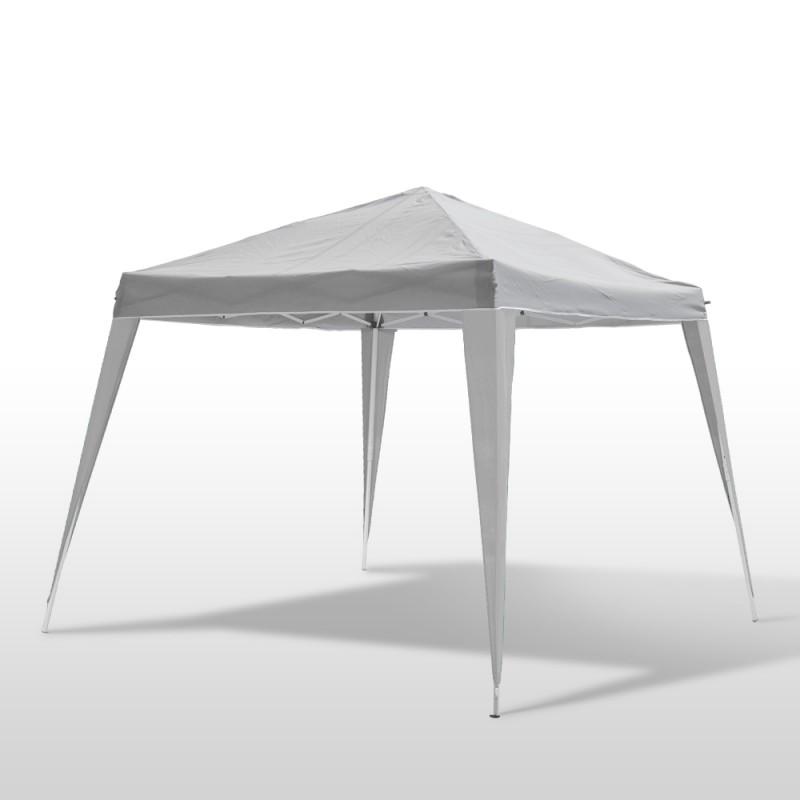 Pavillon de jardin tente de r ception 2 4 x 2 4 m blanc for Landi meubles de jardin