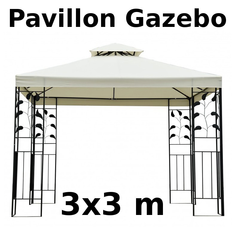 garten pavillon gazebo 3x3m. Black Bedroom Furniture Sets. Home Design Ideas