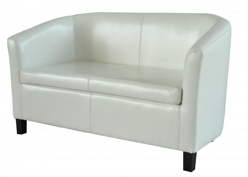 Canap en simili cuir blanc magasin en ligne gonser - Canape blanc simili cuir ...