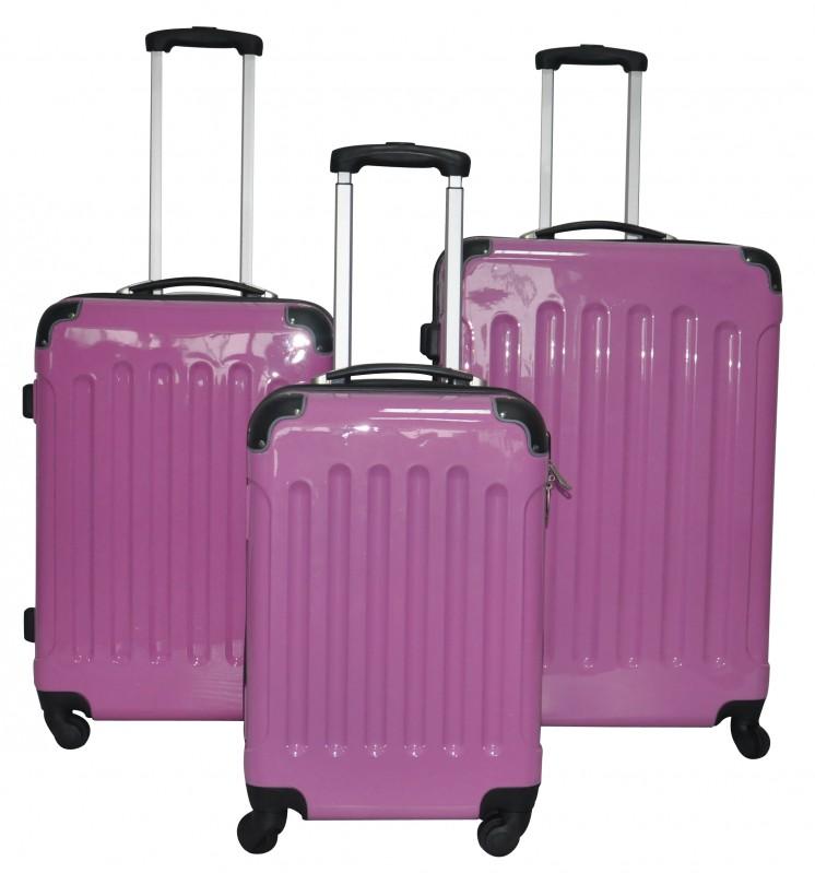 reisekoffer 3er set rosa online shop gonser. Black Bedroom Furniture Sets. Home Design Ideas