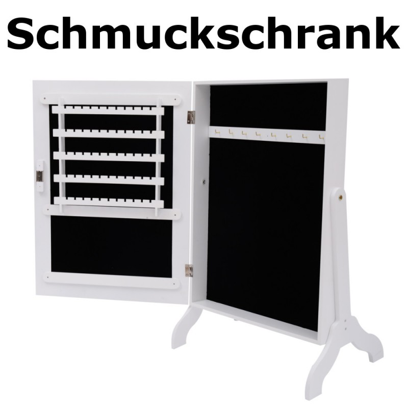 schmuckschrank 02 mit spiegel. Black Bedroom Furniture Sets. Home Design Ideas