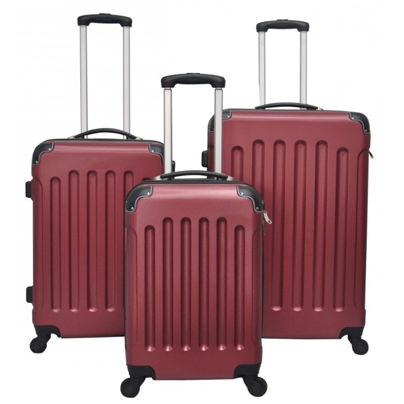abs valise de voyage rouge magasin en ligne gonser. Black Bedroom Furniture Sets. Home Design Ideas
