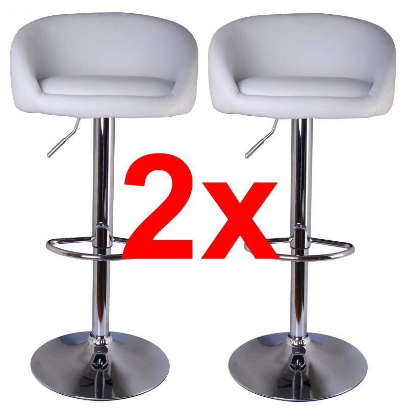 2 exklusive barhocker weiss. Black Bedroom Furniture Sets. Home Design Ideas