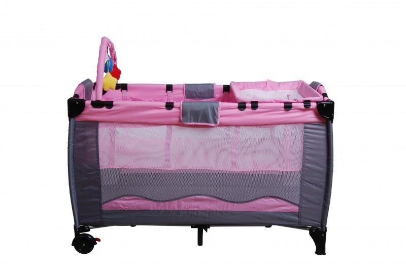 lit de voyage pour b b s et enfants rose magasin en ligne gonser. Black Bedroom Furniture Sets. Home Design Ideas