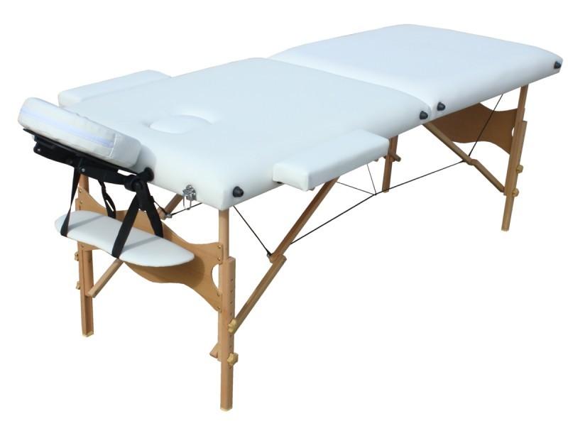 Table de massage 2 zones blanc magasin en ligne gonser - Table de massage pas chere ...