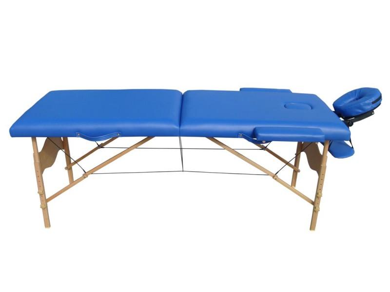 Table de massage 2 zones bleue magasin en ligne gonser - Table de massage pas chere ...
