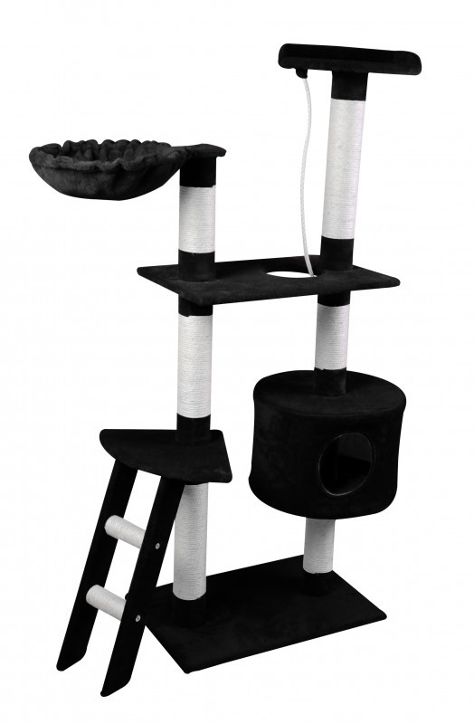 arbre chat 150 cm de haut noir magasin en ligne gonser. Black Bedroom Furniture Sets. Home Design Ideas