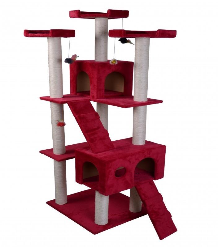 katzenbaum rot g nstig kaufen online shop gonser. Black Bedroom Furniture Sets. Home Design Ideas