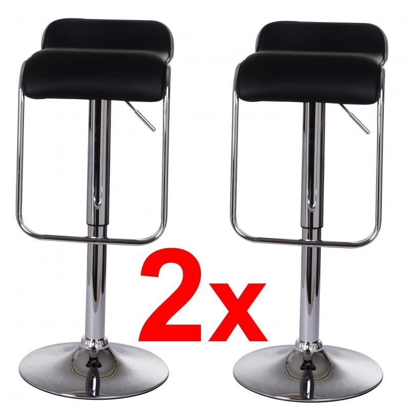 2 moderne barhocker schwarz. Black Bedroom Furniture Sets. Home Design Ideas